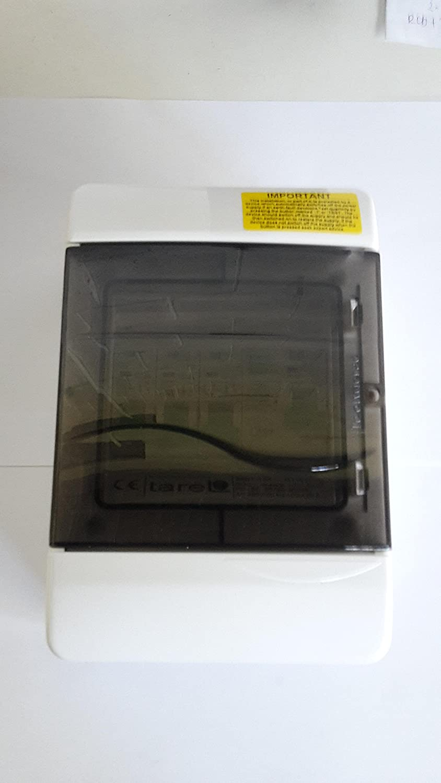 6Amp,20Amp,32Amp MCBs IP 40 Plastic Garage consumer unit 63A 30mA RCD and 3 MCBs