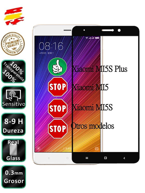 Movilrey Protector para Xiaomi MI5S Plus Negro Completo 3D Cristal ...