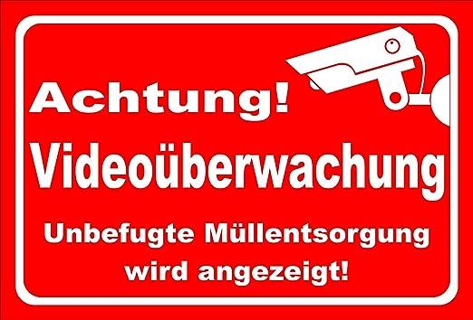 KE-Partyzubehör - Cartel para videovigilancia (20 Variantes ...