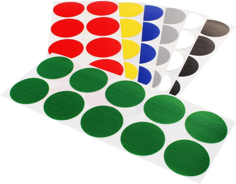 Basteln Dekorieren Klebeshop24 bunte Markierungspunkte aus Gewebe /Ø 100 mm Sortimentspack Zum Markieren Mit strukturierter Oberfl/äche || alle Farben je 10 St/ück