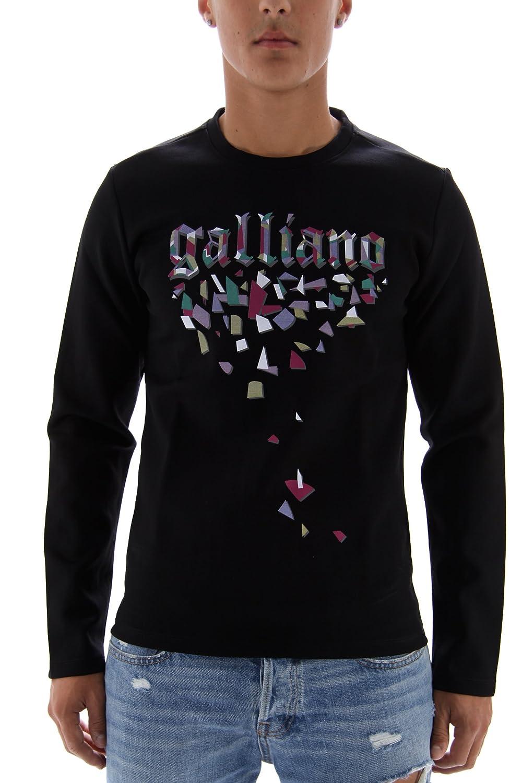 John Galliano Men's Sweatshirt Black Black Medium