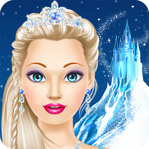 Ice Queen Salon: spa, makeup and dress up princess for girly girls who love fashion games (Barbie Games For Kids)