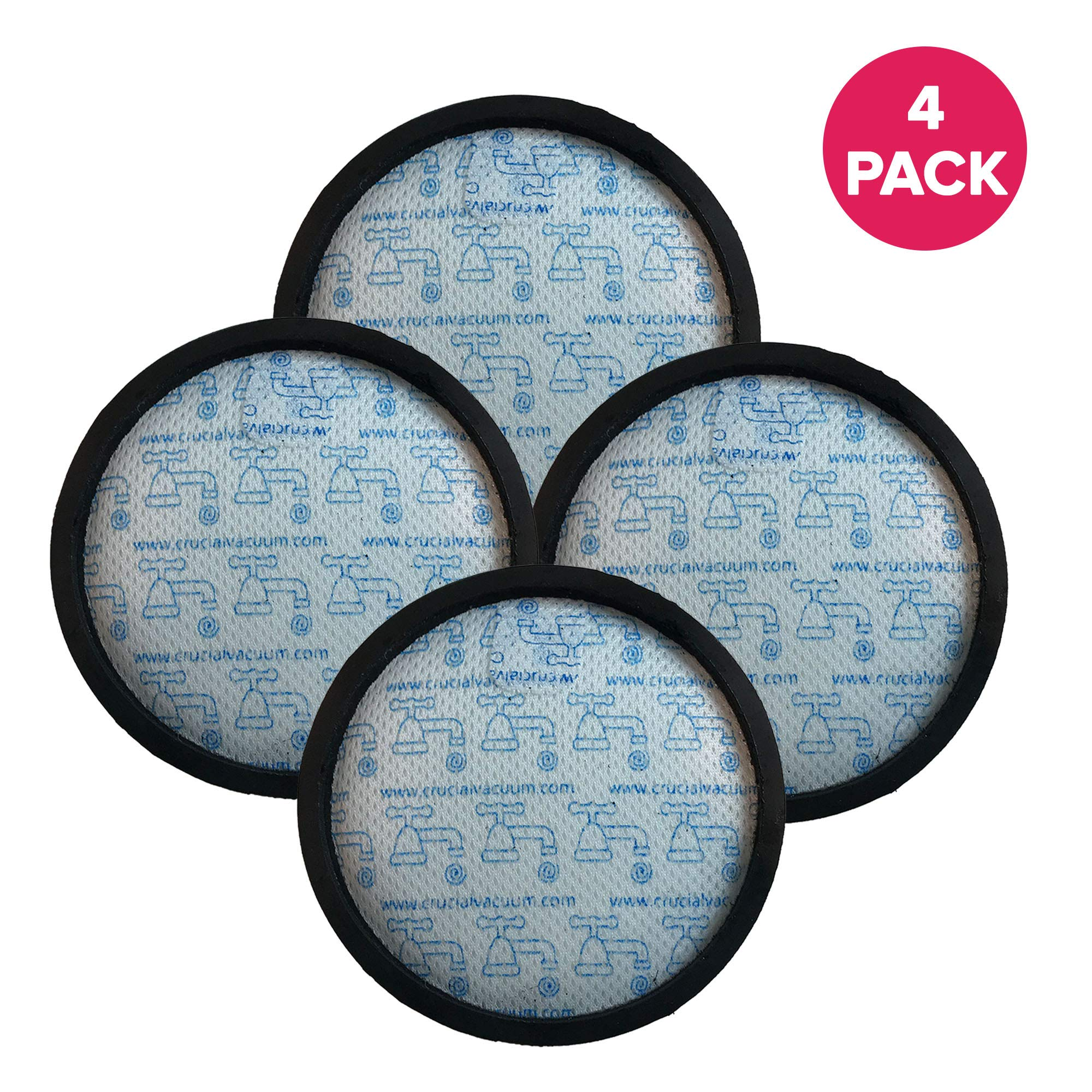 Crucial Vacuum Pre-Filter Replacement - Compatible with Dyson DC-18 Pre-Motor Filter - Pair with Part 911685-01 for Long Life - Compact, Washable, Reusable Vacuum Filter - Perfect for Home (4 Pack)