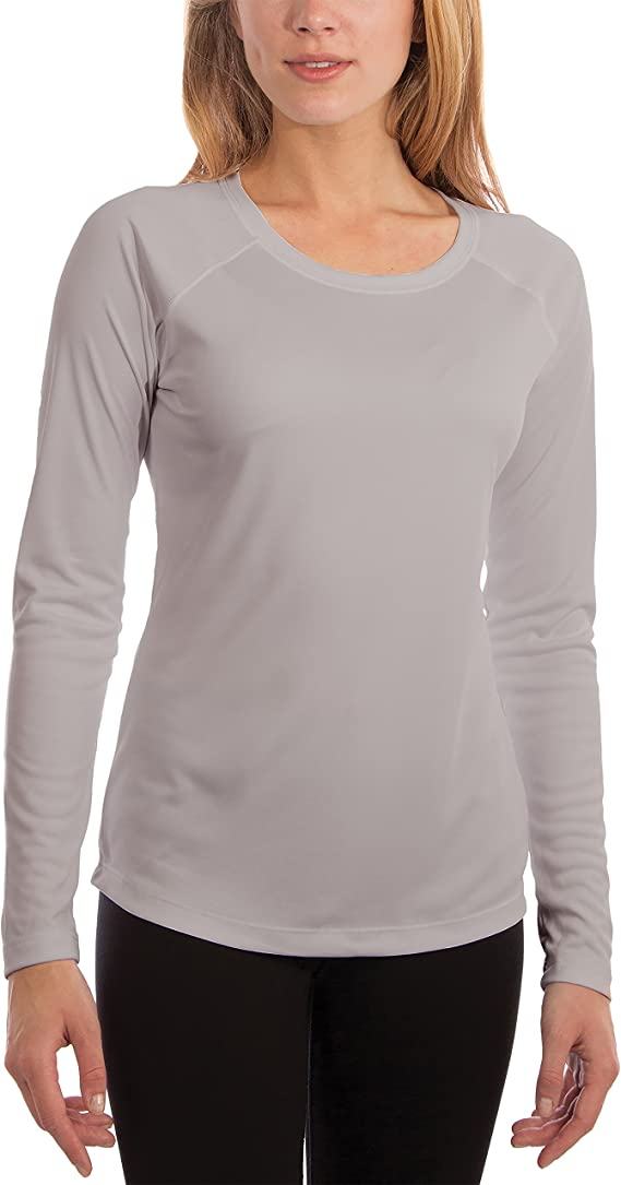 Vapor Apparel Women's UPF 50+ UV Sun Protection Outdoor Performance Long Sleeve T-Shirt