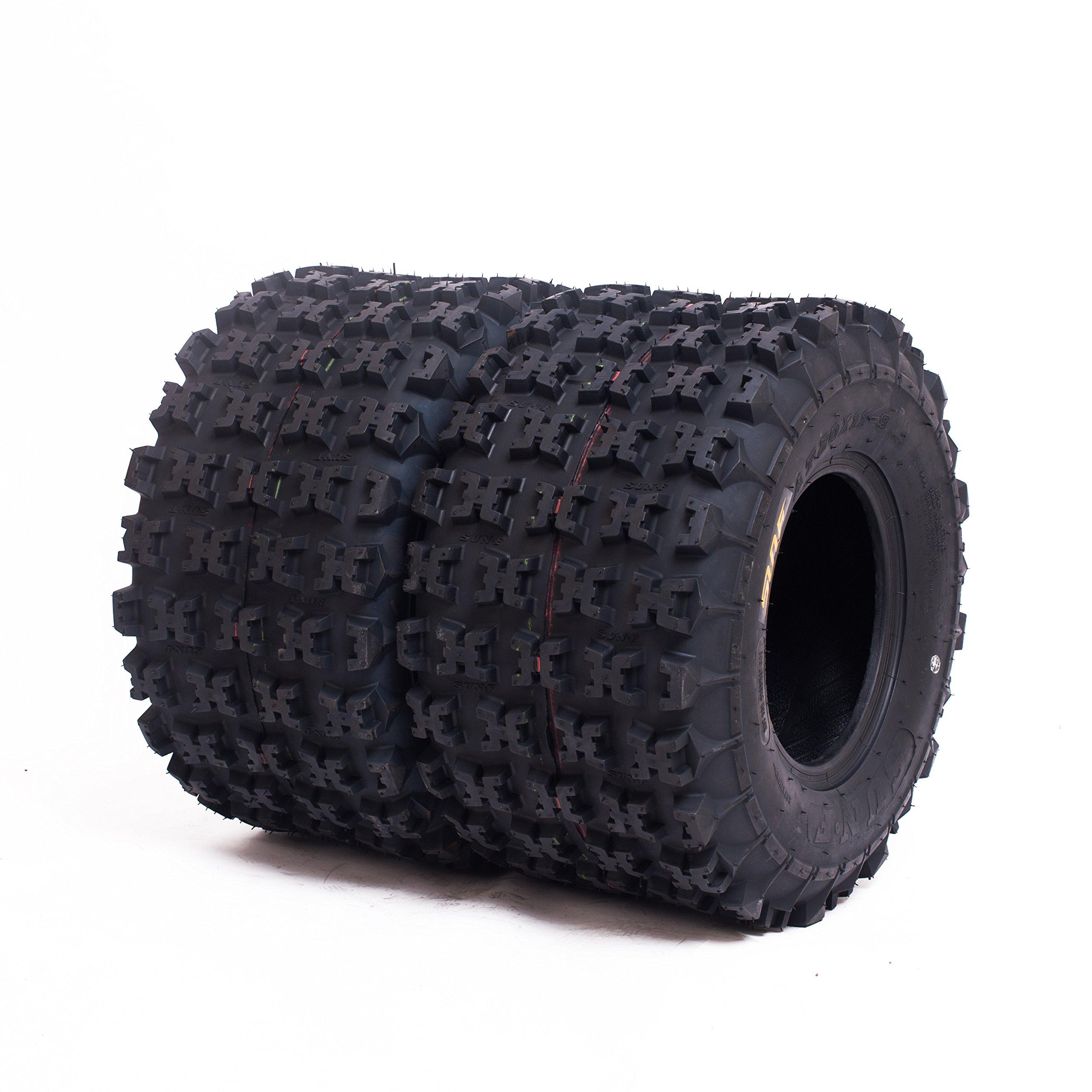 Set of 2 SunF A027 ATV Tires 20x11-8 Rear, 6 Ply