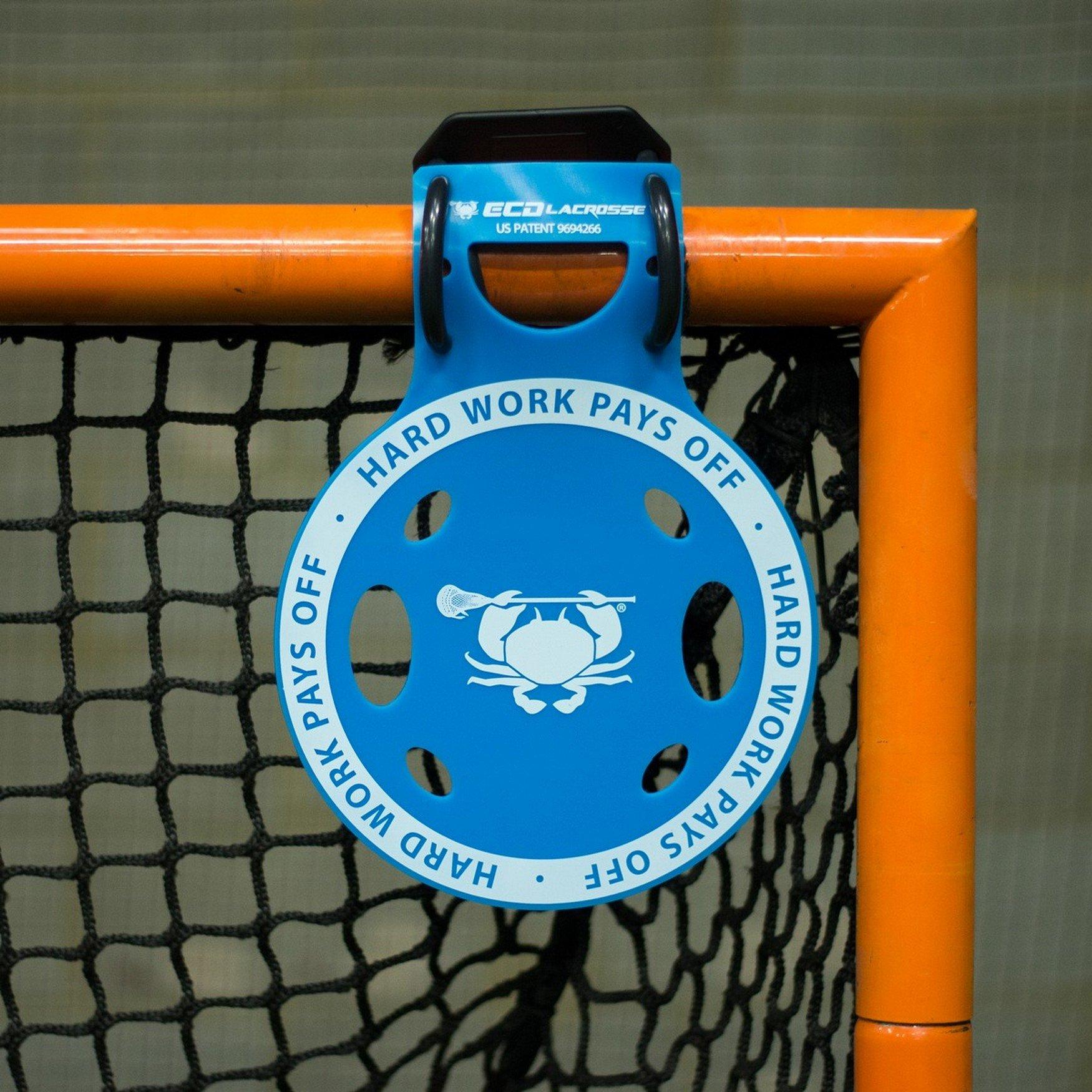 ECD Lacrosse Shooting Target 2-Pack East Coast Dyes Corner Pocket Target 2 Blue Bundle with 1 Performall Sports Bag by ECD Lacrosse (Image #2)