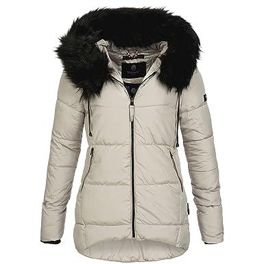 Marikoo JALE Damen Jacke Steppjacke Winterjacke lang warm Mantel Parka  XS-XXL 6Farben, Größe ca92c7ce33