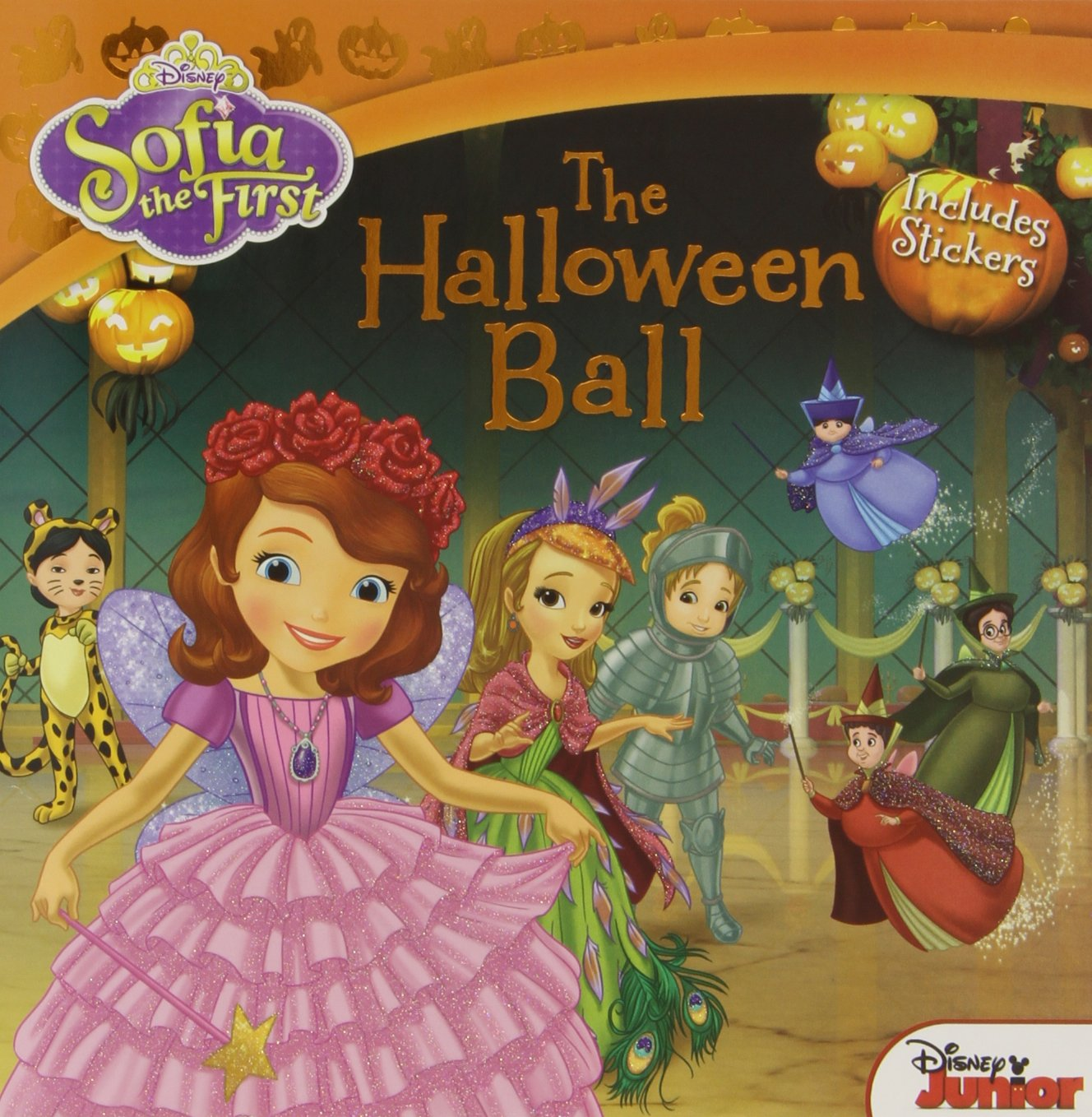 sofia the first the halloween ball includes stickers disney book group lisa ann marsoli disney storybook art team 9781423171447 amazoncom books