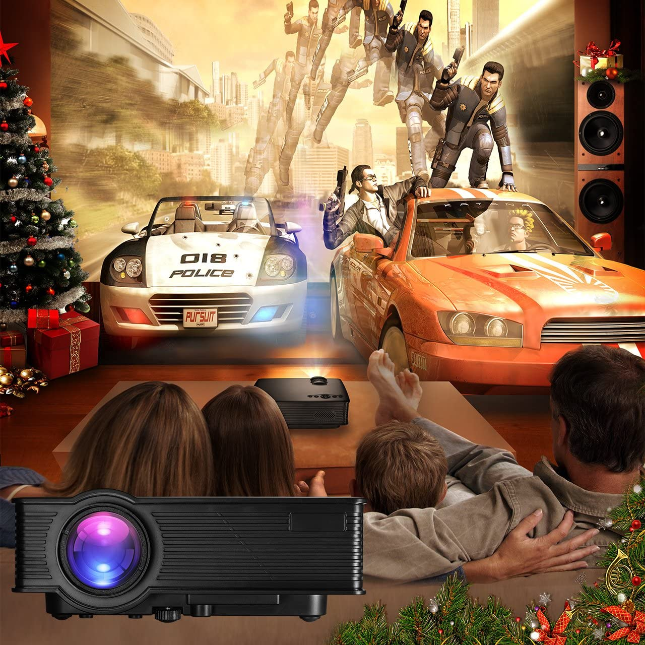 Mpow Proyector LCD Mini teatro doméstico Multimedia portátil con ...
