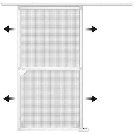 1PLUS Mosquitera de Aluminio Ajustable Marco Sistema Premium Puerta Corredera, 120 x 240 cm Disponibles