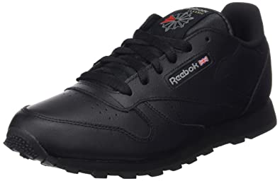 6678bcf41 Reebok Classic Leather, Unisex Kids Low-Top Sneakers, Black (Black 001)