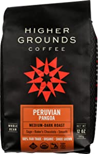 Higher Ground Roasters, Coffee Peruvian Pangoa Dark Roast Organic, 12 Ounce