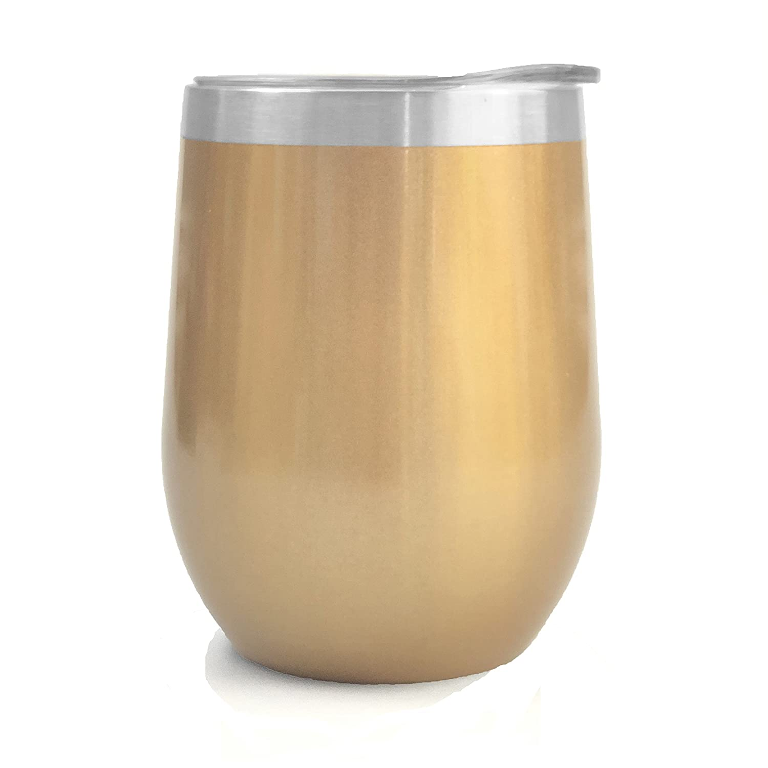 Ice Shaker 12oz Insulated Stainless Steel Wine Cup (Gold)