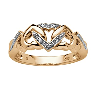 Amazon.com  White Diamond Accent 18k Gold over .925 Sterling Silver ... 094e9bb953d2