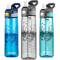 Newdora Sports Water Bottle with Flip Straw, Large BPA Free Drinking Bottle, Sports Flask, Leakproof Gym Bottle, Ideal…