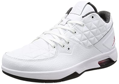 45a7efe8cf7ed6 Image Unavailable. Image not available for. Color  Nike Men s Jordan Clutch  White Gym Red-Black Ankle-High Leather Basketball Shoe