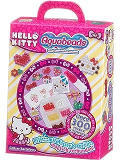 Aquabeads Boîte Loisir Créatif Hello Kitty Brillante, Kit de Bricolage,  Plaque, Stylo à 7975dd646ab7