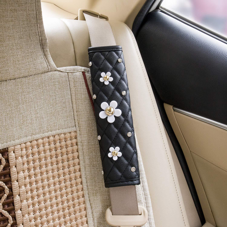 Elegante Car Series Sitzriemen Covers f/ür Erwachsene M/ädchen Damen Queen -Crown Admluck Auto Sitzriemen Pads mit Fashion Cute Bling Rhinstones Soft Leather Stylish Exquisite Lattice Design