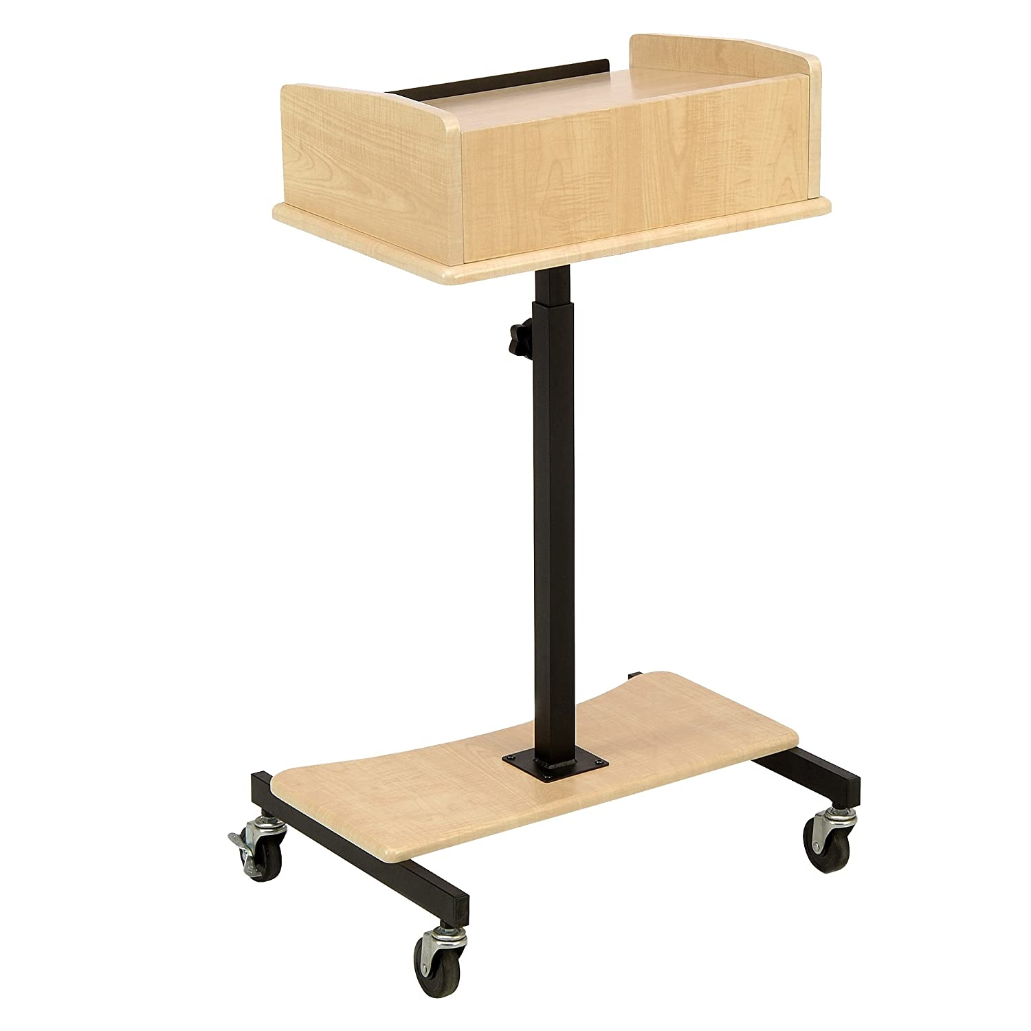 Oklahoma Sound LSS-FM Adjustable Laptop Speaker Stand Fusion Maple 24 Length x 24 Width x 39-40 Height