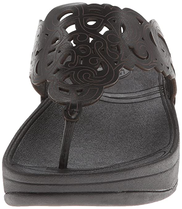 df49ef0f822ffb Fitflop Women s Flora Flip-Flop Black  Amazon.co.uk  Shoes   Bags