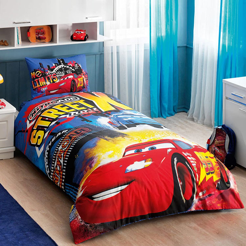 PIXAR Cars Lightning Mcqueen Cotton Bed Linens Duvet Cover Comforter Bedding Set