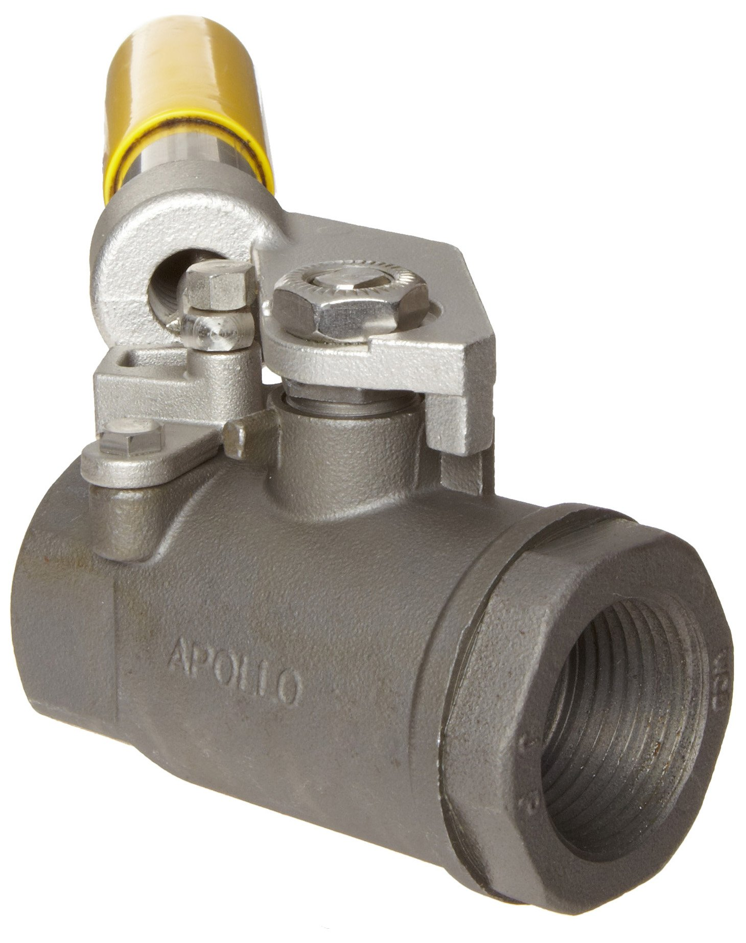 Apollo 89-500 Series Carbon Steel Ball Valve, Two Piece, Inline, Spring-Close Lever, 1'' NPT Female