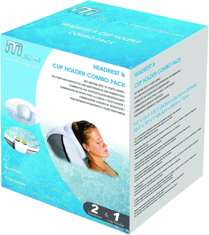 premium.xl MSpa Comfort Set 2 Kopfstützen 1 Getränkehalter B0301350