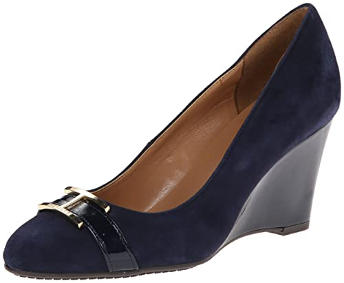 cad86cdea Tommy Hilfiger Women's Reda Wedge Pump Navy 10 B(M) US: Buy Online at Low  Prices in India - Amazon.in