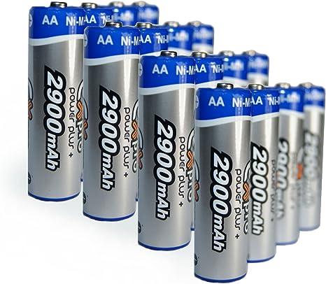 Ex-Pro Power Plus - Pack de 16 Pilas Recargables (AA+, Ni-Mh, 2900 ...