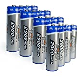Ex-Pro Power Plus+ 2900mAh AA Rechargeable Ni-Mh Batteries (Pack of 16)