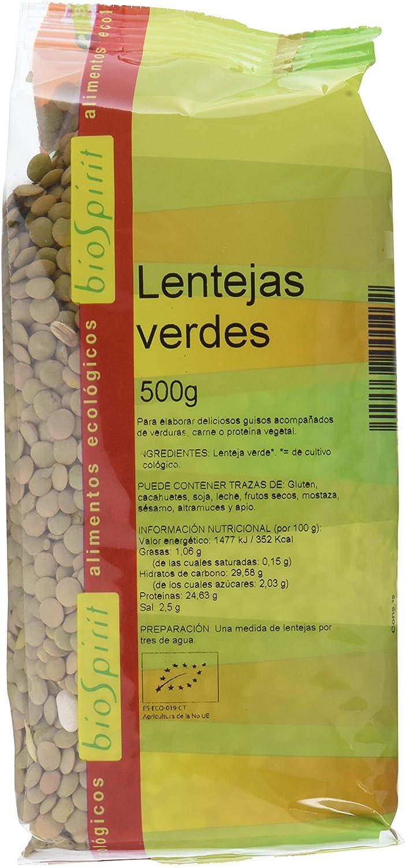 Biospirit Lentejas Verdes de Cultivo Ecológico - 500 gr ...