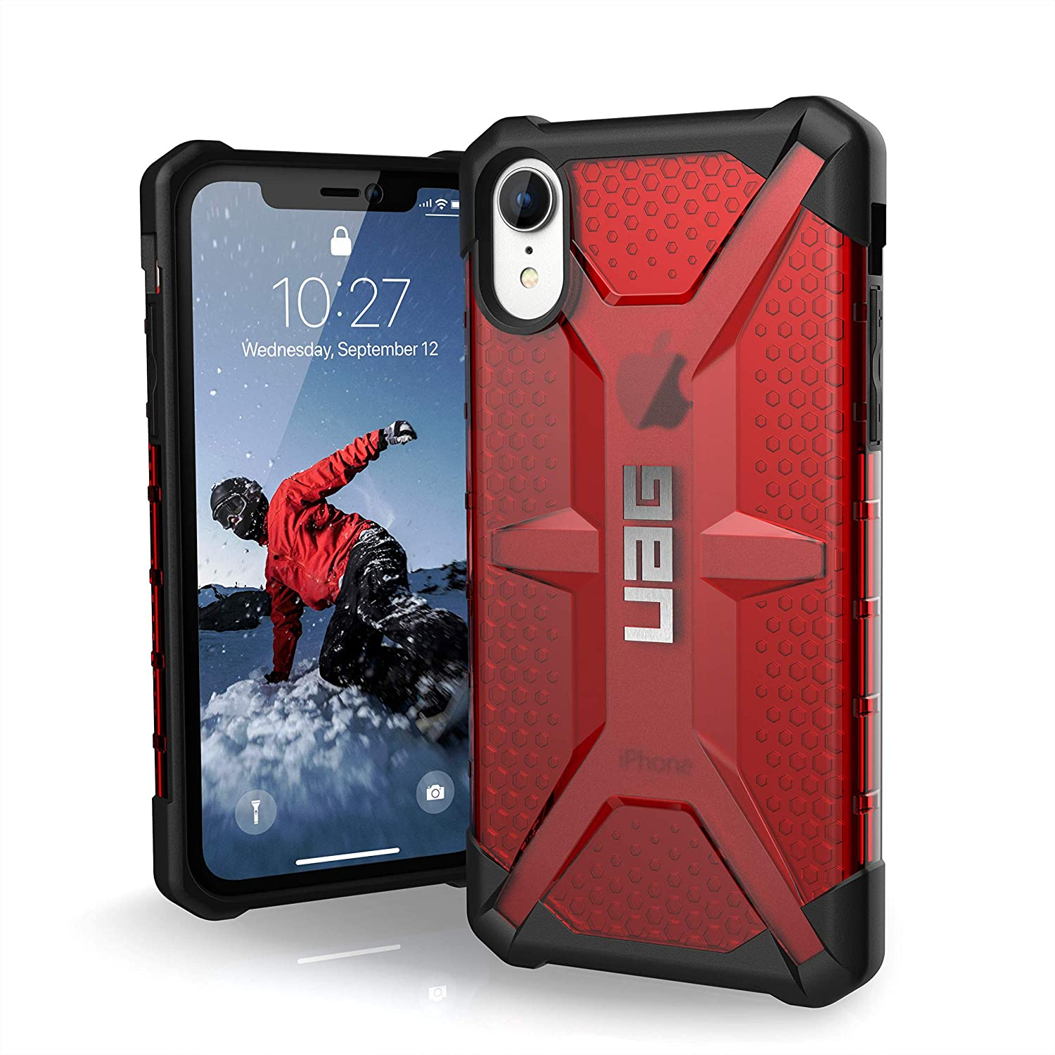 """URBAN ARMOR GEAR UAG iPhone XR [6.1"""" Screen] Plasma Feather-Light Rugged [Magma] Military Drop Tested iPhone Case"""
