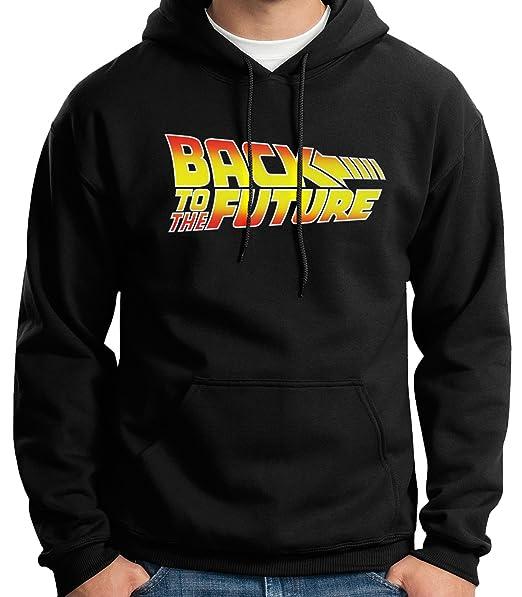 35mm - Sudadera con Capucha Back To The Future - Regreso Al Futuro Logo - Hoodie, Negra, XXL: Amazon.es: Ropa y accesorios