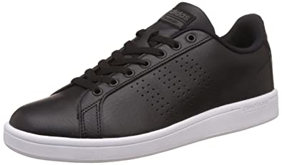 adidas neo Men\u0027s Cloudfoam Advantage Clean Cblack and Dgsogr Leather  Sneakers - 10 UK/India