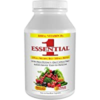 Andrew Lessman Essential-1 Multivitamin 180 Small Capsules 3000 IU Vitamin D3. 250 mcg Methyl B12. Lutein Lycopene Zeaxanthin. 24+ Nutrients. High Potency. No Additives. Ultra-Mild Only One Cap Daily