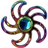 Hand Spinner - Tri Fidget Toupie Métal Multicolore Roue Rosace Ninja Shuriken - Jeu Jouet Adulte Enfant Anti Stress