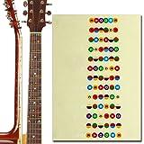 L'MS Guitar Fretboard Note Decals Fingerboard Frets Map Sticker for Beginner Learner Practice (Guitar-Clear&Multicolor)