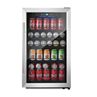 Kalamera 150-can Beverage Refrigerator Stainless Steel Touch Control