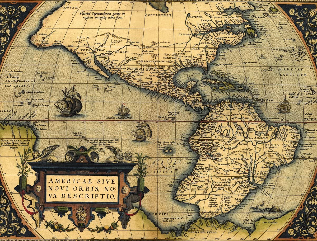 Peel and Stick New World Map Wallpaper Wall Mural Wall Decal Removable DeLazurGoods