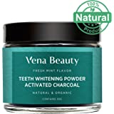 Teeth Whitening Powder - Made with Coconut Activated Charcoal and Food Grade Formula - Fresh Mint Flavor