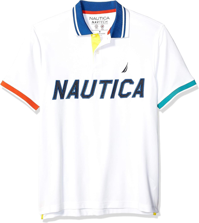 Nautica - Polo de Manga Corta para Hombre con Logo de Malla ...