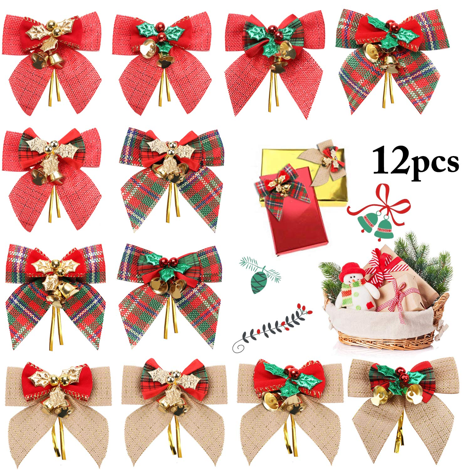 Bells on a Christmas Bow-Assorted Colors