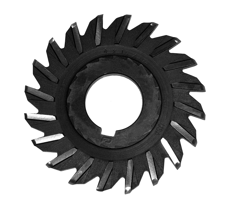 Cobalt 1 1//4 ID 6 Diameter 1//2 Width F/&D Tool Company 11754 Straight Tooth Full Radius Side Milling Cutter