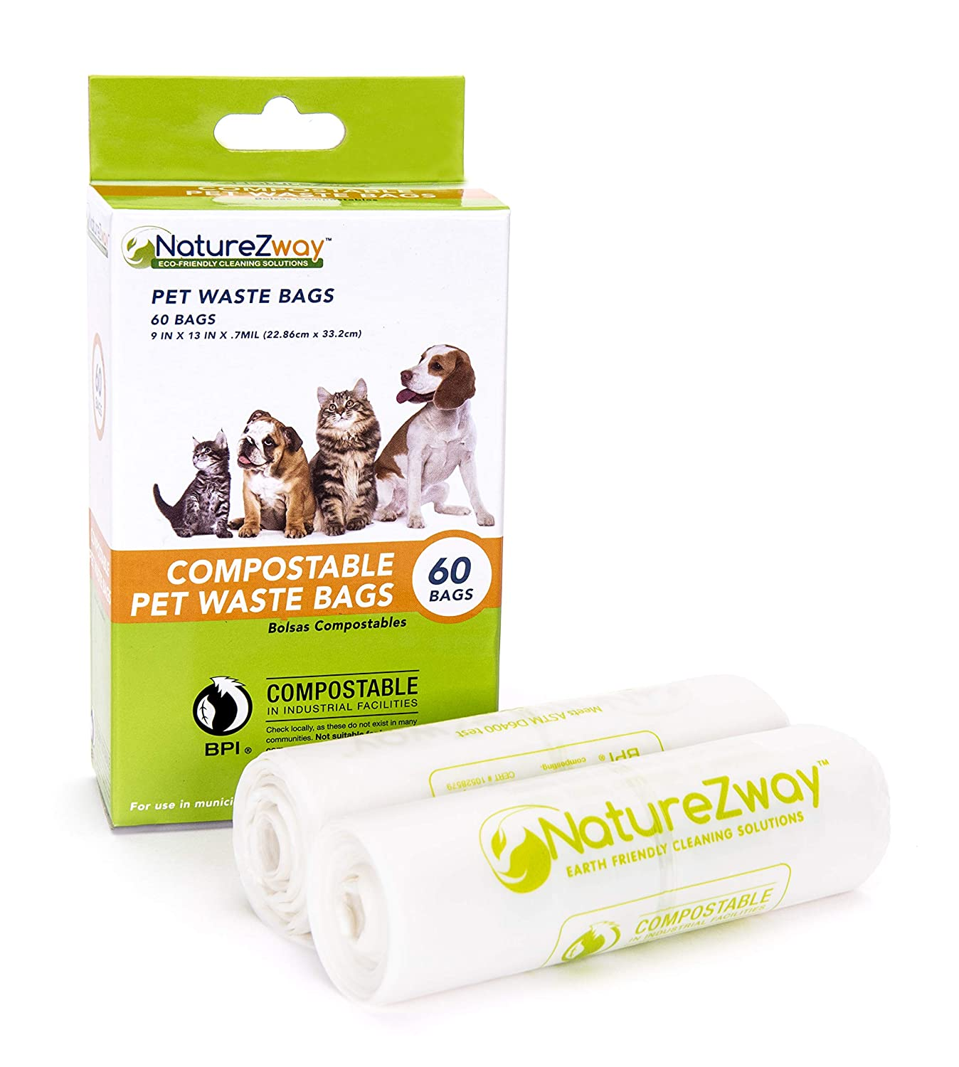 Amazon.com: NatureZway Bamboo Pet Waste Bags | Compostable ...