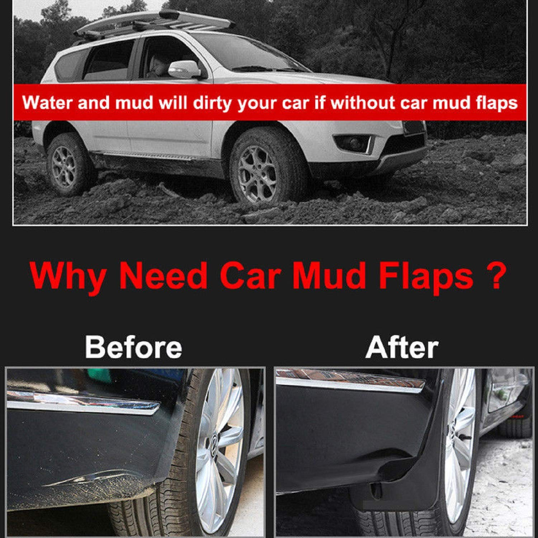 LFOTPP T-ROC Guardabarros del coche Aletas de barro Mud Flaps Fender Splash Guard Faldillas antibarro 4 PCS