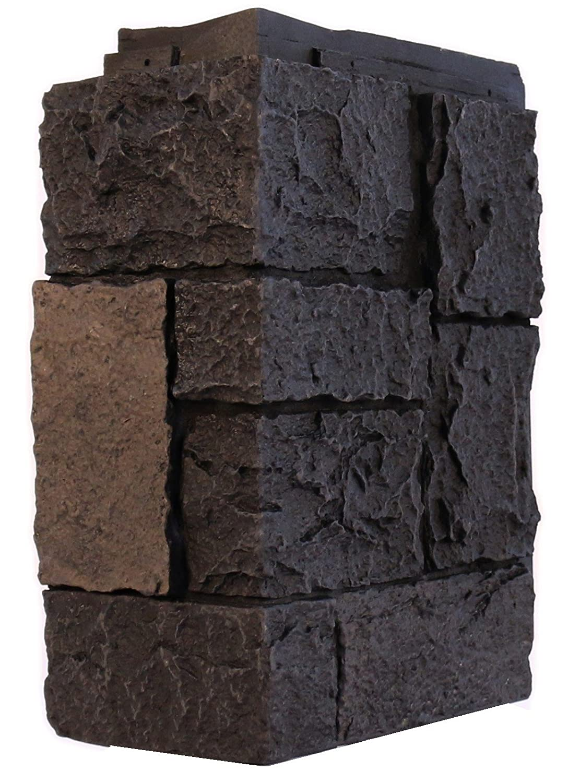 NextStone Faux Polyurethane Stone Siding Castle Rock Outside Corner Onyx Limited Edition Color