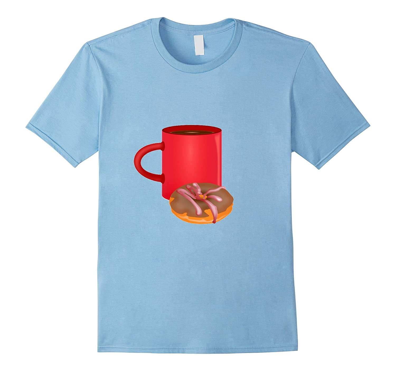 Coffee  Donut T-Shirt-TD