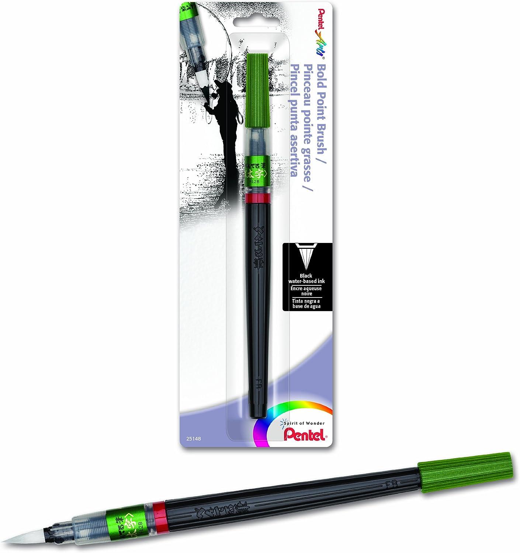 Pentel Arts Bold Point Brush Pen Black FL2BBPA