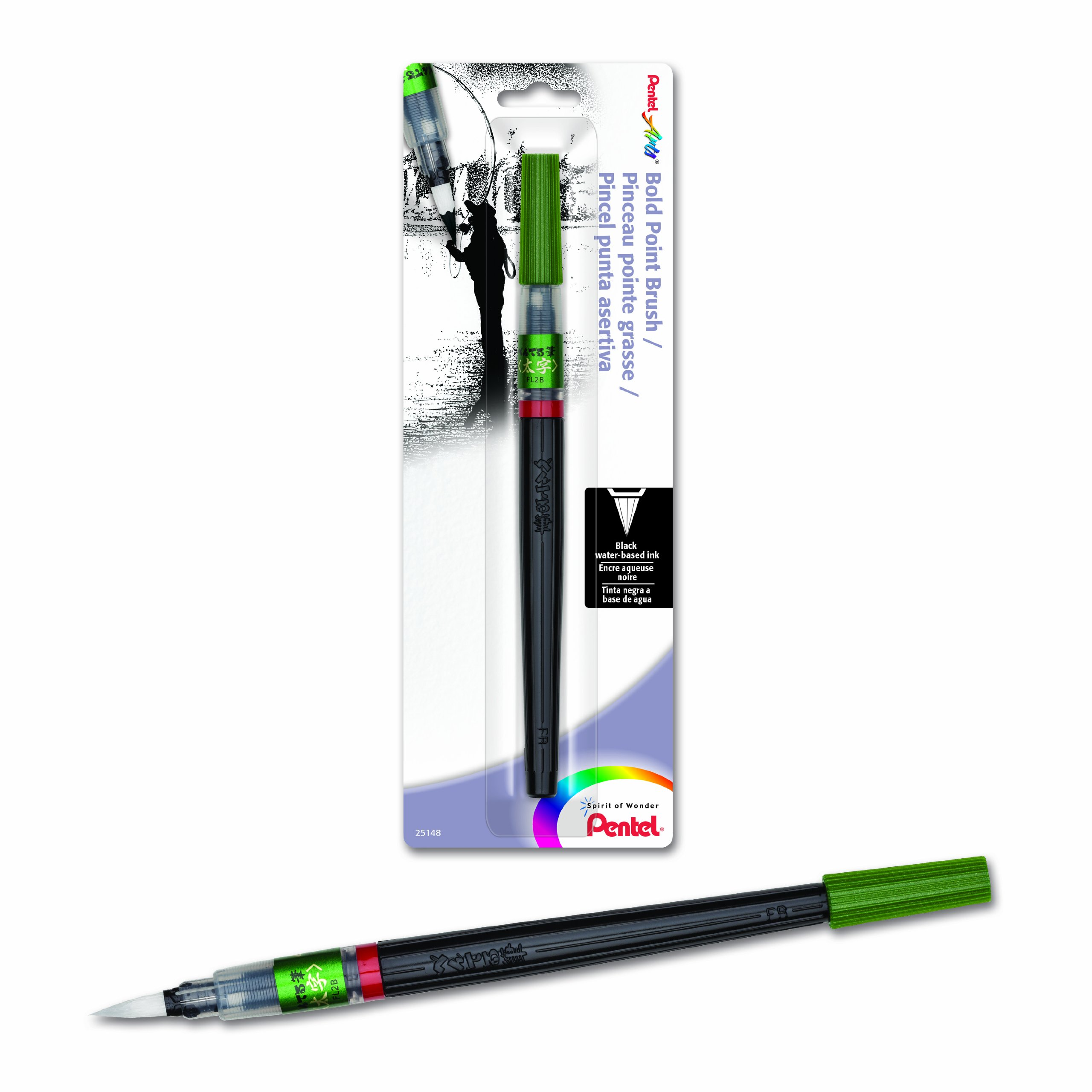 Pentel Arts Brush, Bold Point, Black Ink, Pack of 1...