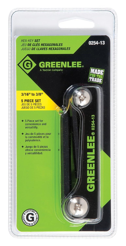 Greenlee 0254-13 Folding Hex Key Set, 5-Piece